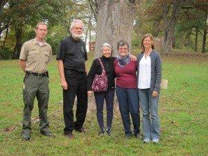 Ranger Jon, RELPNC President Larry Zeafla, Maria McMacken, Helga Morrow, Cheryl Finney