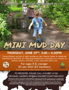 Mini Mud Day 2017 @ Lake Roland Nature Center | Baltimore | Maryland | United States