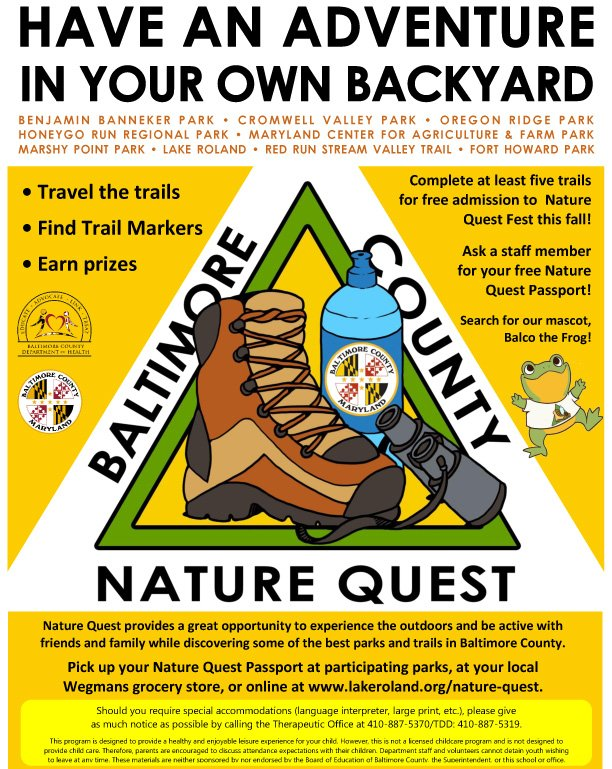 Nature Quest 2017 - bike, hike, or canoe - Lake Roland