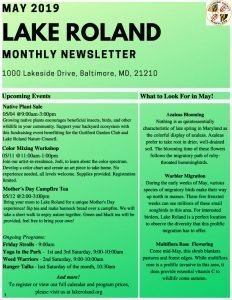 May 2019 Lake Roland Newsletter